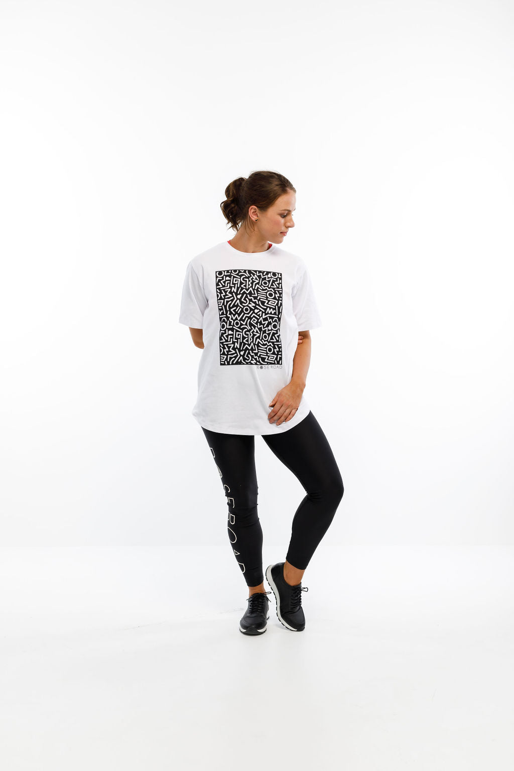 TEE - White with Squiggle Placement Print