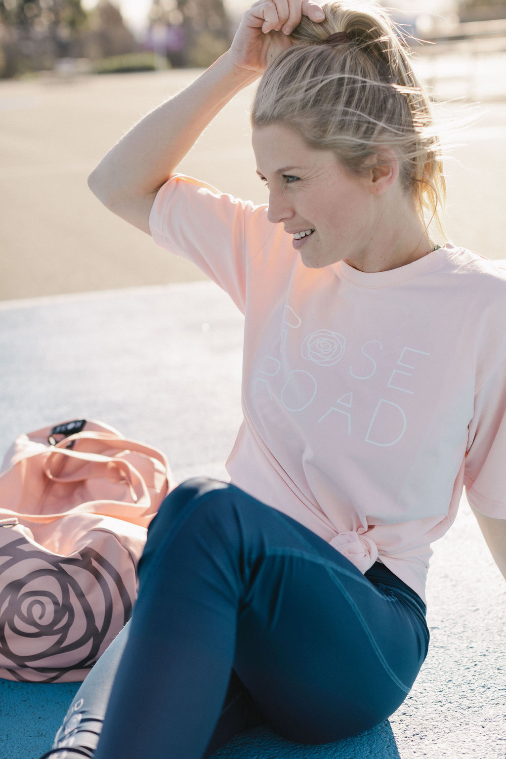 TEE - Blush Pink with Stack Logo