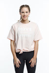 *SALE* TEE - Blush Pink with White Slogan Print