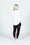 APARTMENT PANTS - Black with Black X print