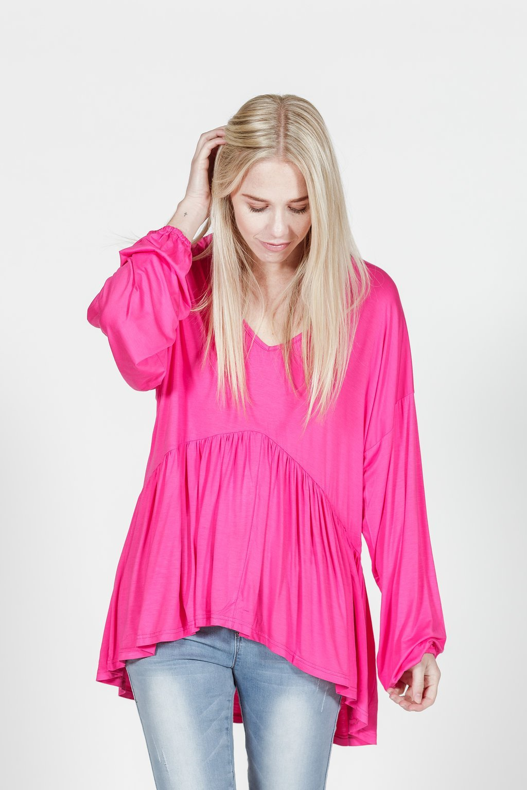 *SALE* LUCY TOP - Bamboo - Raspberry
