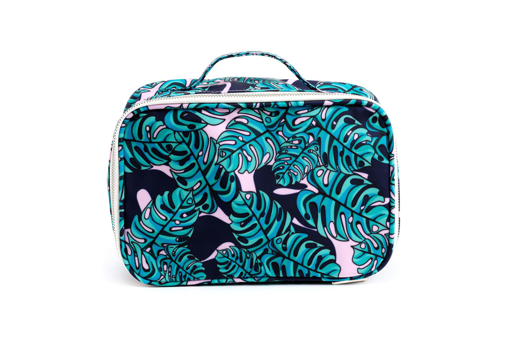 COSMETIC BAG - LARGE - Monstera Print