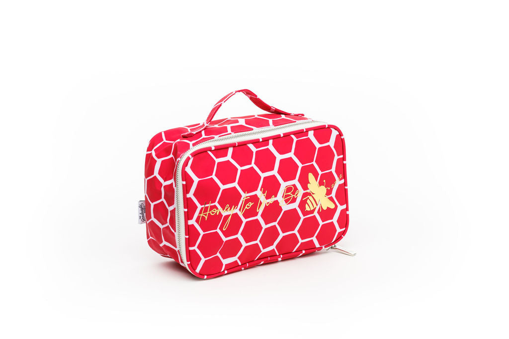 COSMETIC BAG - LARGE - Honey Bee Print