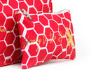 COSMETIC BAG - MEDIUM - Honey Bee Print