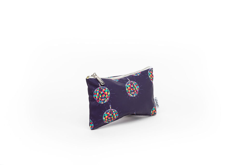COSMETIC BAG - MEDIUM - Disco Ball print