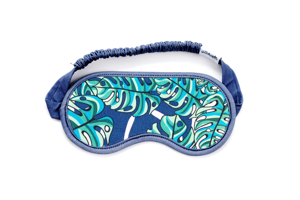 EYE MASK - Monstera Print
