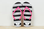 *SALE* JANDALS - Stripes with pink straps