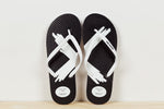 *SALE* JANDALS - Black with large white X print