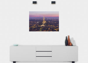 Paris Illuminated At Night Wall Mural - Blue Lake Decor