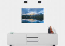 Load image into Gallery viewer, Cloudy Day On The Lake Wall Mural - Blue Lake Decor