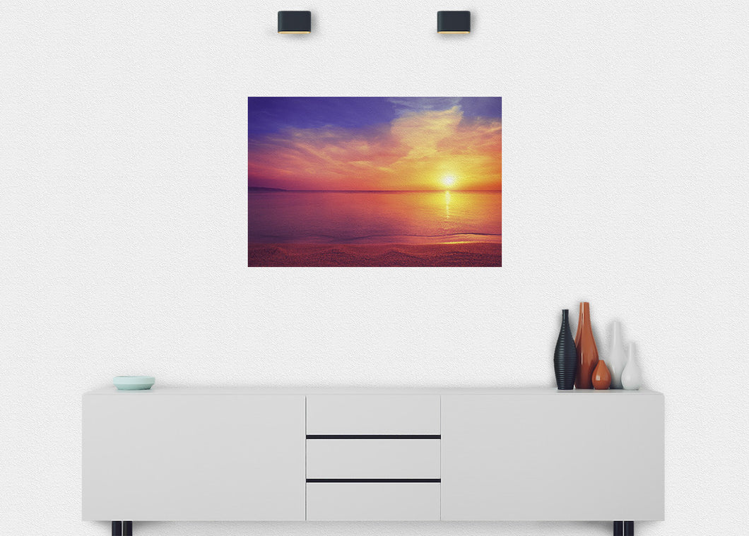Sunrise on the Beach Wall Mural - Blue Lake Decor