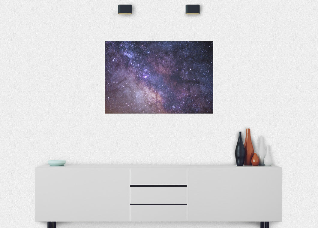 Starry Clusters Wall Mural - Blue Lake Decor