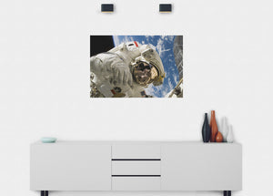 Astronaut Space Walk Wall Mural - Blue Lake Decor