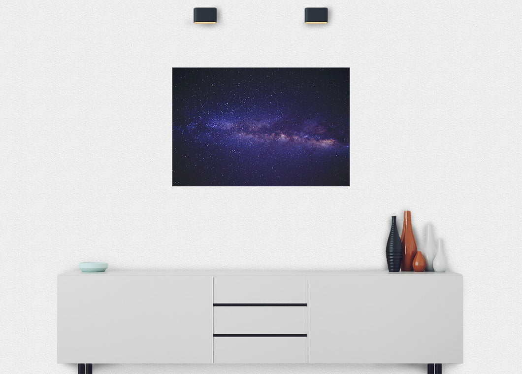 Andromeda Cloud Wall Mural - Blue Lake Decor