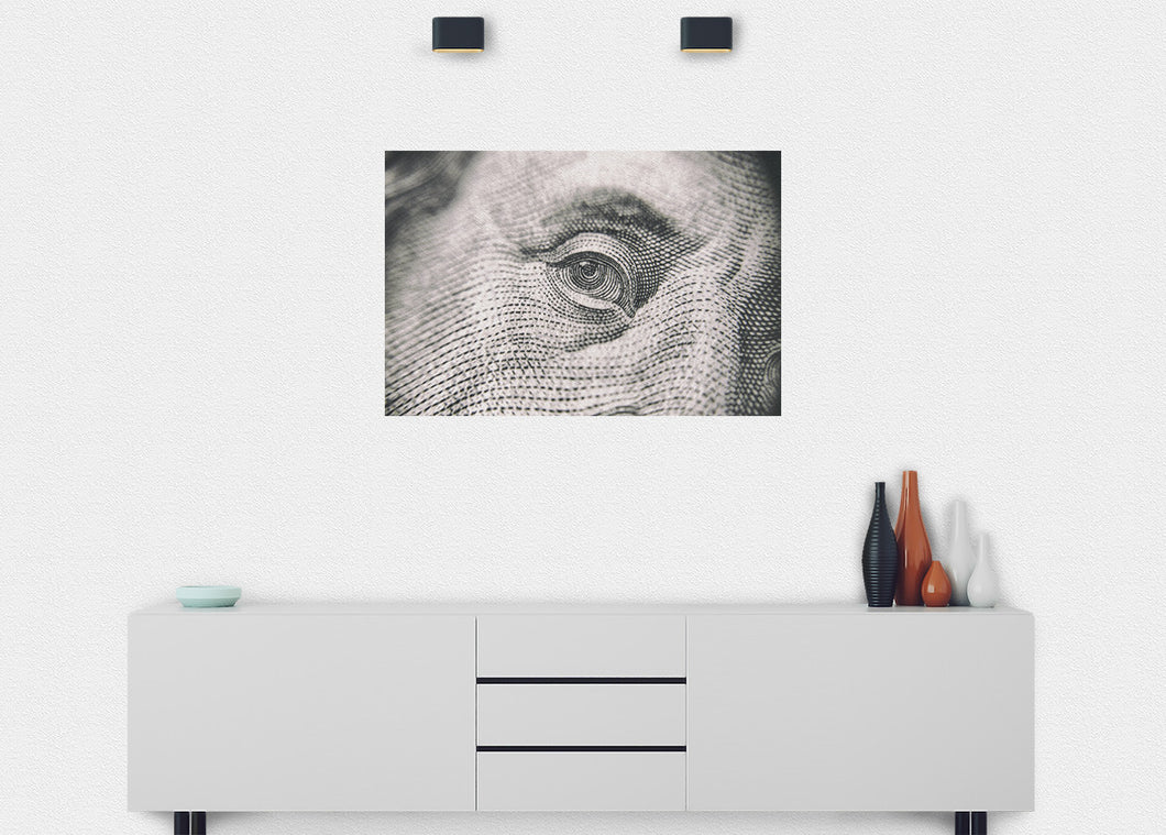 Franklin's Eye Wall Mural - Blue Lake Decor