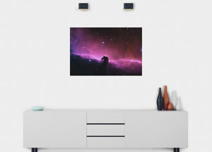 Horse Head Nebula Wall Mural - Blue Lake Decor