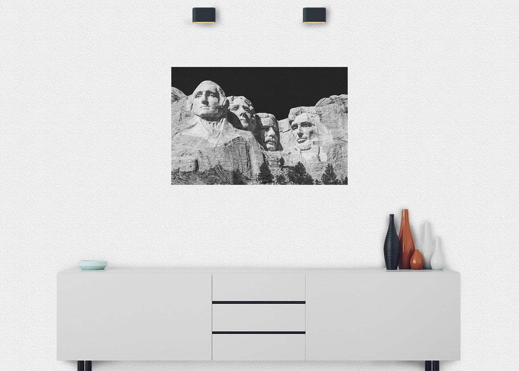 Mt. Rushmore Wall Mural - Blue Lake Decor