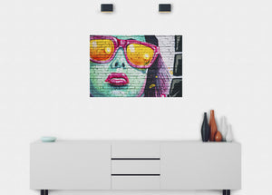 Cool Shades Graffiti Wall Mural - Blue Lake Decor