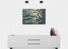 Load image into Gallery viewer, Sunbursts on Water Wall Mural - Blue Lake Decor