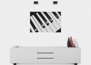 Piano Keys Wall Mural - Blue Lake Decor