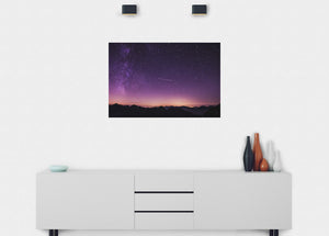 Shooting Star At Dusk Wall Mural - Blue Lake Decor