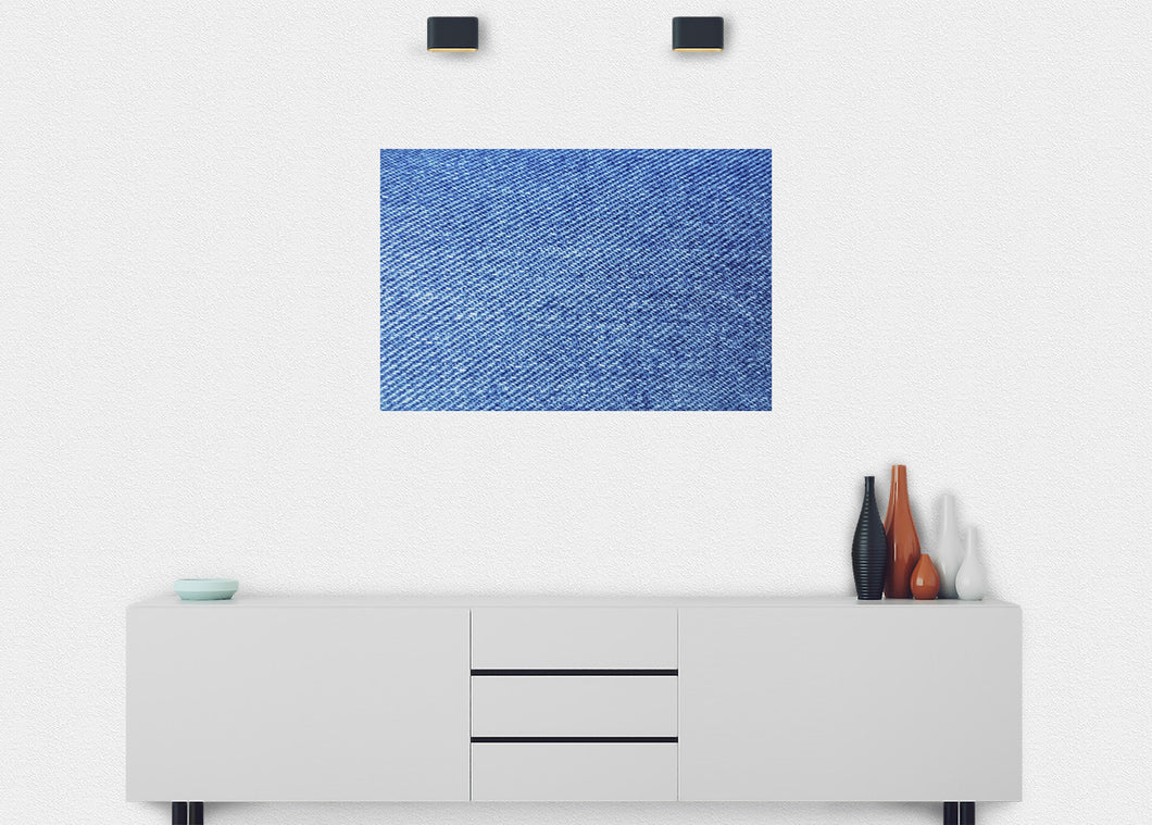 Blue Denim Texture Wall Mural - Blue Lake Decor
