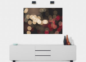 Bokeh City Lights Wall Mural - Blue Lake Decor