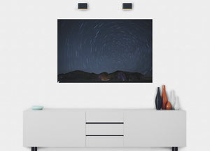 Long Exposure (Spin) Wall Mural - Blue Lake Decor