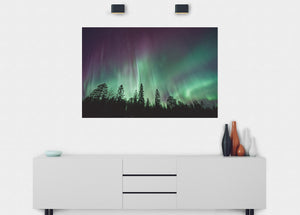 Northern Lights Wall Mural - Blue Lake Decor