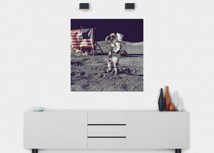 Last Man On The Moon Wall Mural - Blue Lake Decor