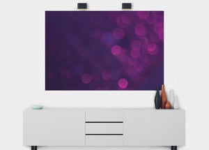 Purple Bubbles Wall Mural - Blue Lake Decor