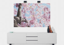 Load image into Gallery viewer, Cherry Blossom Flower Wall Mural - Blue Lake Decor