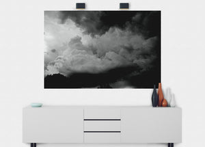 Storm Clouds Wall Mural - Blue Lake Decor