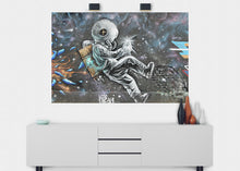 Load image into Gallery viewer, Space Junk Man Graffiti Wall Mural - Blue Lake Decor