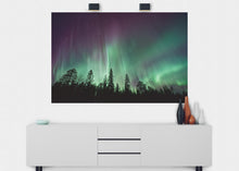 Load image into Gallery viewer, Northern Lights Wall Mural - Blue Lake Decor