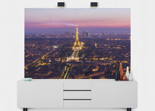 Load image into Gallery viewer, Paris Illuminated At Night Wall Mural - Blue Lake Decor