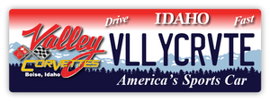 "Valley Corvette License Plate-Style Sign (6"" x 18"")"