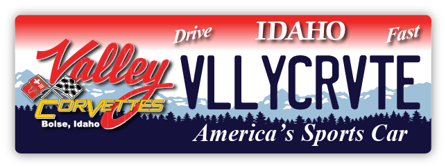 Valley Corvette License Plate-Style Sign (6