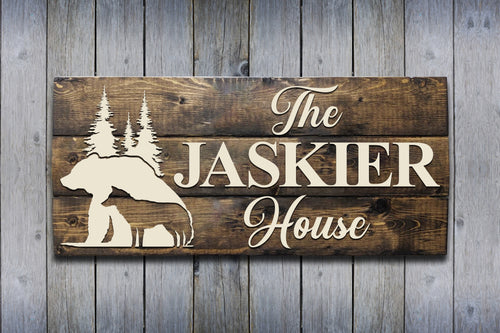 Custom Jaskier House Family Name Sign