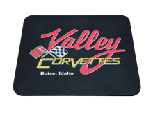 Load image into Gallery viewer, Valley Corvette Logo Mousepad - Blue Lake Decor