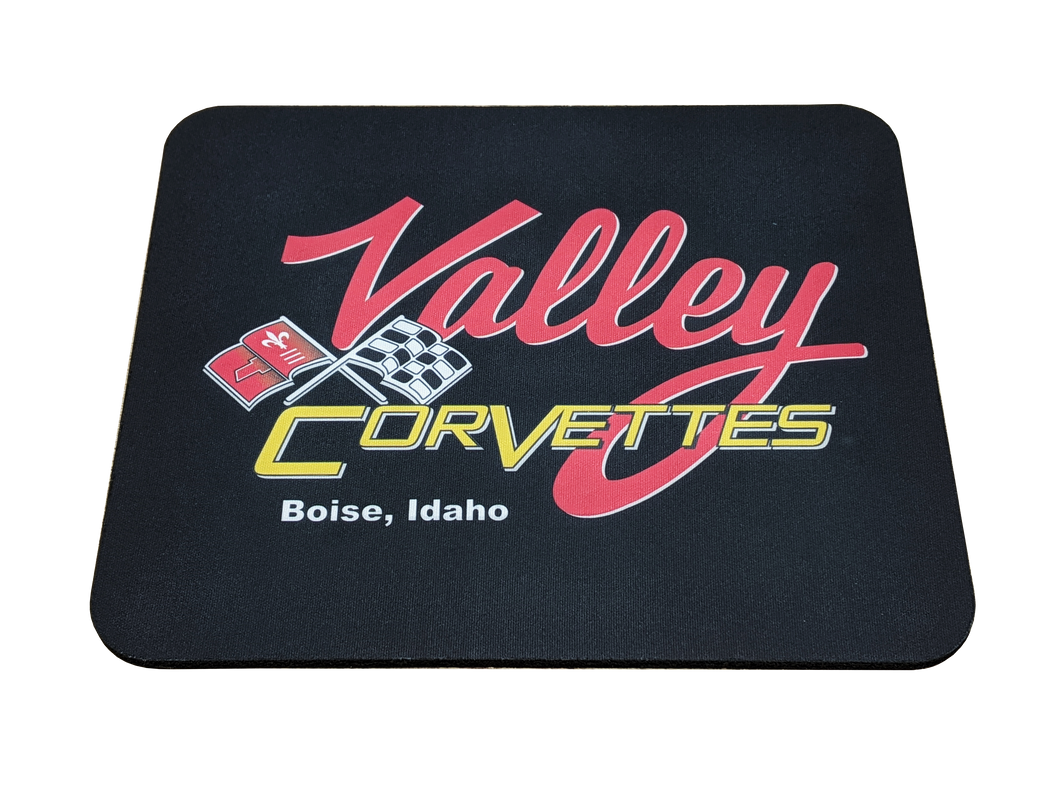 Valley Corvette Logo Mousepad - Blue Lake Decor