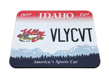 Load image into Gallery viewer, Valley Corvette License Plate Mousepad - Blue Lake Decor
