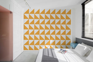 Alternating Triangles Wallpaper - Blue Lake Decor