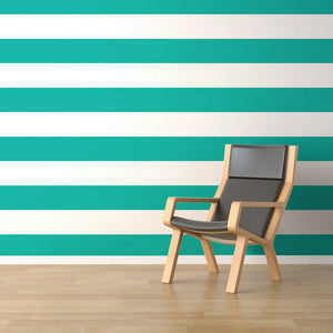 Horizontal Stripes Wallpaper - Blue Lake Decor