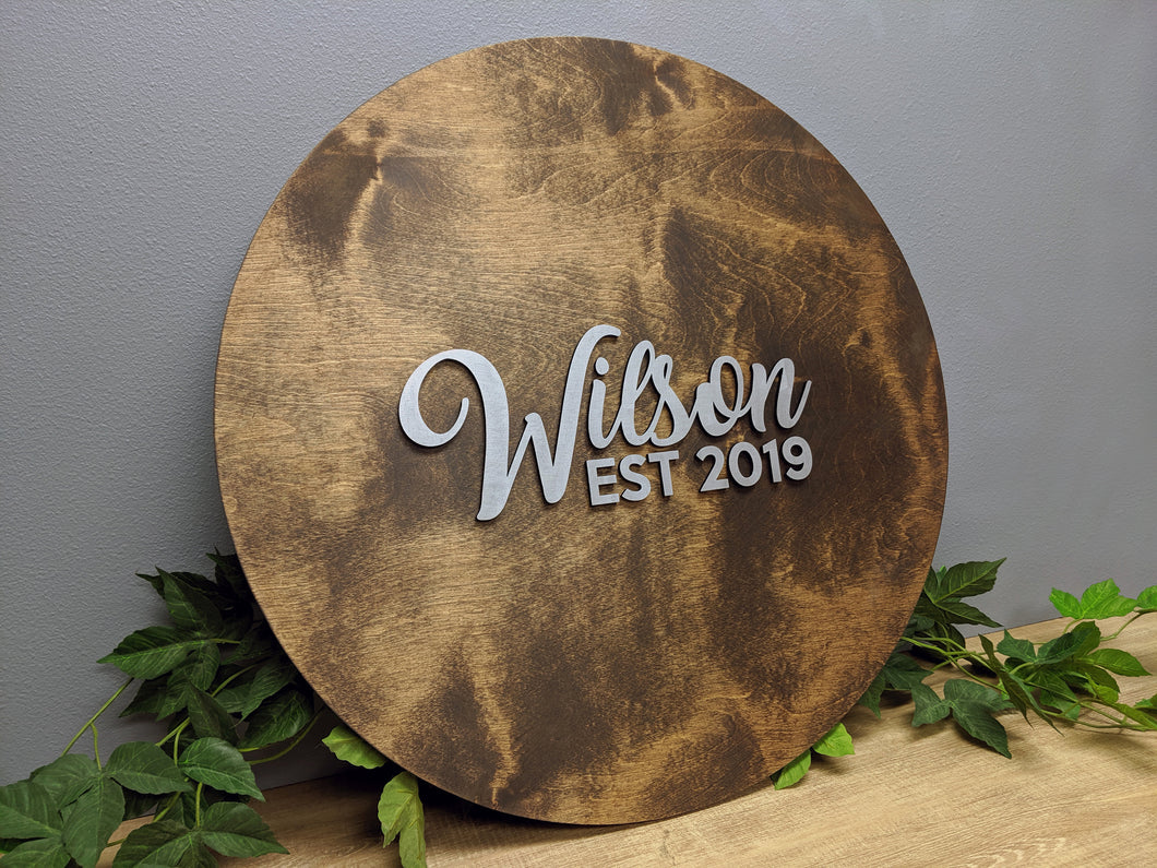Round 3D Wedding Guestbook - Blue Lake Decor
