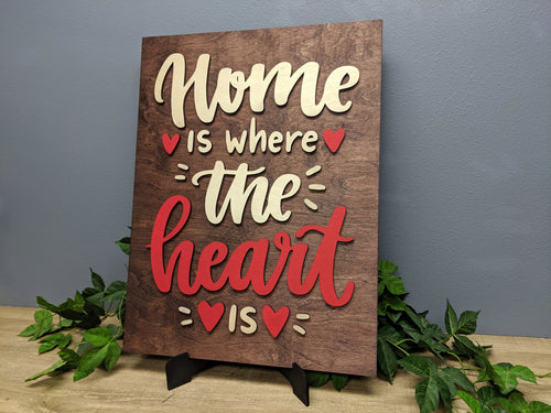 'Home Is Where The Heart Is' Decorative Sign - Blue Lake Decor