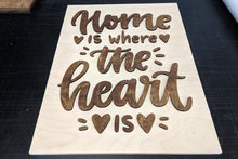 Load image into Gallery viewer, 'Home Is Where The Heart Is' Decorative Sign - Blue Lake Decor