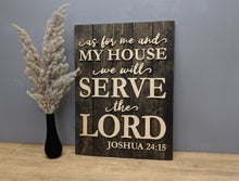 Load image into Gallery viewer, 'Joshua 24:15' Verse Sign - Blue Lake Decor