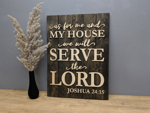 'Joshua 24:15' Verse Sign - Blue Lake Decor