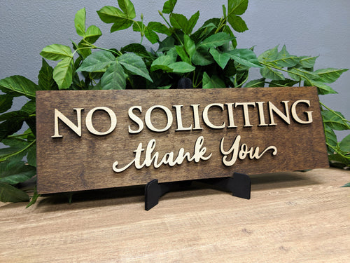 'No Soliciting' Sign - Blue Lake Decor
